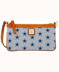 Dooney And Bourke Dallas Cowboys Large Slim Wristlet Gray