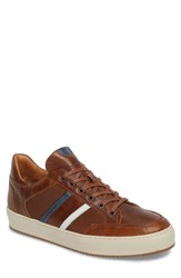 Cycleur De Luxe Burton Textured Sneaker Dark Cognac Leather