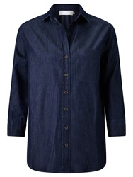 John Lewis Collection Weekend By Florence Easy Fit Shirt Dark Blue
