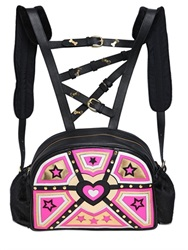 Manish Arora Heart And Stars Patchwork Leather Backpack