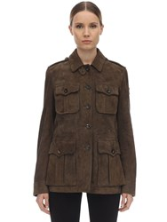 Belstaff City Safari Suede Jacket Olive Green