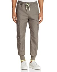 Versus By Versace Neon Trim Cargo Jogger Pants Green Yellow