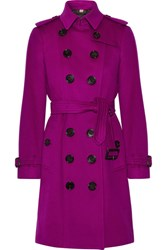 Burberry The Sandringham Cashmere Trench Coat Violet
