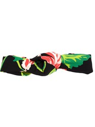Stella Mccartney Floral Print Head Band Black