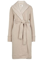 Ugg Duffield Stone Cotton Blend Dressing Gown Beige