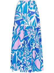 Emilio Pucci Floral Print Tiered Maxi Skirt 60