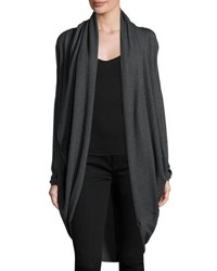 P. Luca Long Sleeve Open Front Cardigan Charcoal