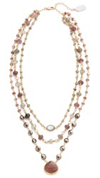 Ela Rae 3 In 1 Ara Necklace Cat's Eye Mixed Ruby Pyrite