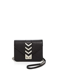 Mackage Zed Mini Crossbody Black Shiny Nickel