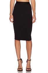 David Lerner Midi Pencil Skirt Black