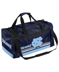 Forever Collectibles North Carolina Tar Heels Striped Core Duffle Bag Lightblue Navy