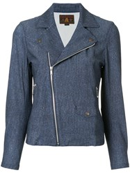 Hysteric Glamour Classic Biker Jacket Polyester Blue