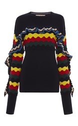Marni Multicolor Ruffle Sweater