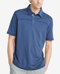 G.H. Bass And Co. Men's Performance Polo Medieval Blue Heather