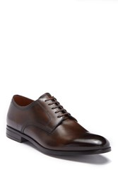 Bally Latour Leather Derby Mid Brown
