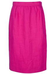 Yves Saint Laurent Vintage Pencil Skirt Pink And Purple