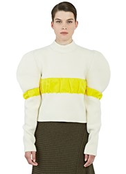 J.W.Anderson Oversized Puffed Sleeve Sweater Cream