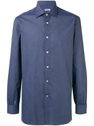 Kiton Button Up Shirt Blue