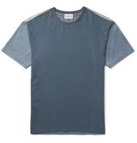 Solid Homme Slim Fit Colour Block Twill And Jersey T Shirt Storm Blue