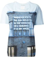 Each X Other Printed T Shirt Blue