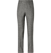 Raf Simons Wool Silk Linen And Cashmere Blend Suit Trousers Black