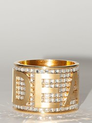 Dsquared Lvr Exclusive Crystal Embellished Cuff Gold