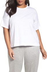 Eileen Fisher Plus Size Women's Organic Cotton Boxy Tee White