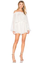 Finders Keepers Mateo Playsuit White