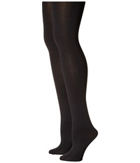 Hue Blackout Tights 2 Pack Black Black Hose