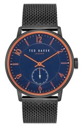 Ted Baker London Owen Mesh Strap Watch 42Mm Dark Blue Black