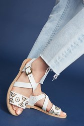 Anthropologie Penelope Chilvers Studded Sandals White