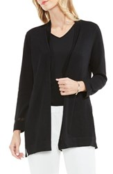 Vince Camuto Women's Sheer Stripe Cardigan Rich Black