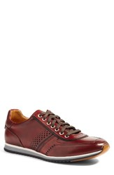 Magnanni Men's 'Cristian' Sneaker Red Red Leather