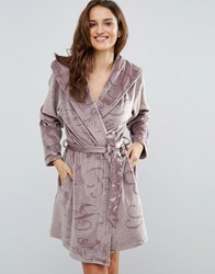 Ted Baker Embossed Short Robe Brown