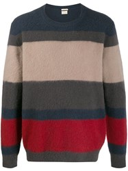 Massimo Alba Striped Crew Neck Jumper 60