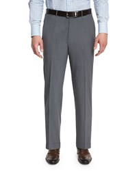 Ermenegildo Zegna High Performance Wool Twill Trousers Gray Men's