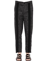 Damir Doma Coated Linen Pants With Front Bands
