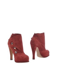 Michel Perry Ankle Boots Maroon