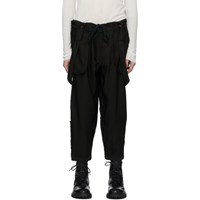 Ziggy Chen Black Suspender Trousers