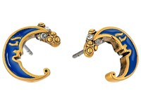 Marc Jacobs Charms Wonderland Enamel Moon Studs Earrings Blue Multi Earring