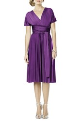 Dessy Collection Plus Size Women's Convertible Wrap Tie Surplice Jersey Dress African Violet