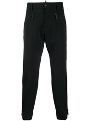 Dsquared2 Cropped Zip Trousers Black