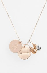 Women's Nashelle Pyrite Initial And Arrow 14K Gold Fill Disc Necklace Gold Pyrite Silver Pyrite S