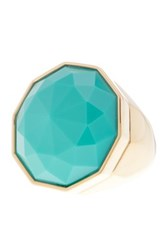 Trina Turk Faceted Stone Cocktail Ring Size 7 Green