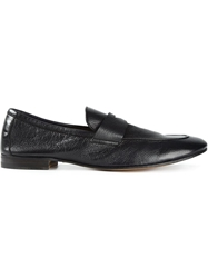 Henderson Fusion Penny Loafers Black