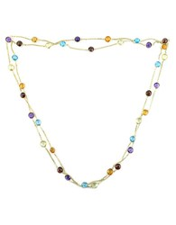 Effy Semi Precious Multi Stone 14K Yellow Gold Station Necklace