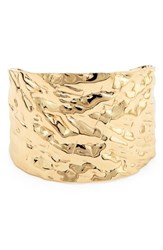 Sole Society Textured Metal Cuff Bracelet Gold