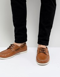 Kurt Geiger London Leather Boat Shoes In Brown