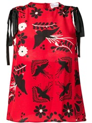 Red Valentino Terrace Print Blouse Red
