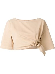 Roberto Cavalli Buckle Detail Cropped Top Pink And Purple